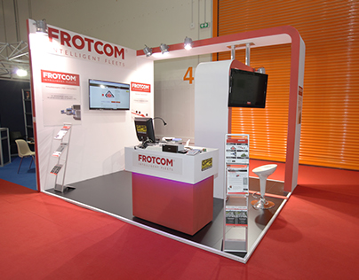 "Exhibition Kiosk  for ""FROTCOM"" company"