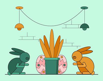 Easter Theme Illustration