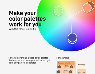 How to use your color palettes properly