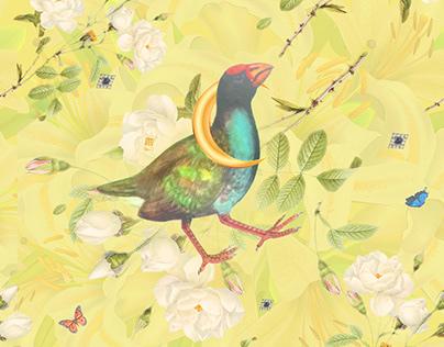 Pattern design Bling Birds 15 Edouard Artus ©2018
