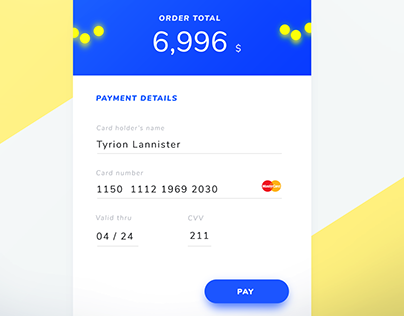DailyUI#2 Credit Card Checkout
