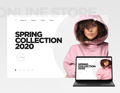 Online store for clothing store