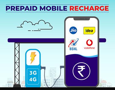 Prepaid Mobile Rechare Concept