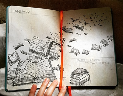 The CBTL 2017 Giving Journal: Pen Illustrations