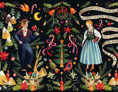 Illustration for Die Schweizer Familie magazine