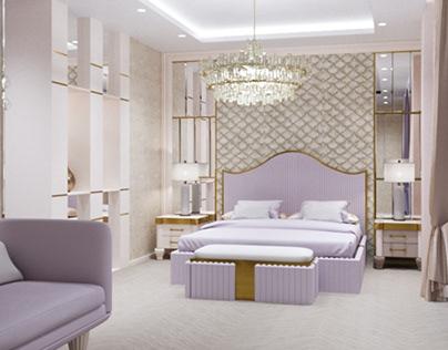 Спальня в стиле неоклассика с элементами арт-деко
