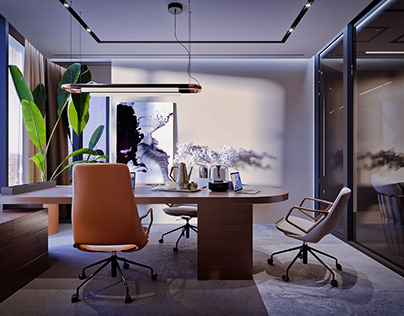 Financial company office