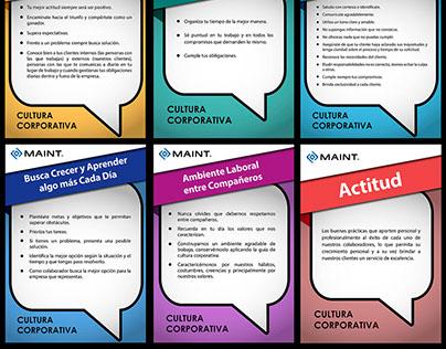 Afiches: Cultura - Valores Corporativos MAINT