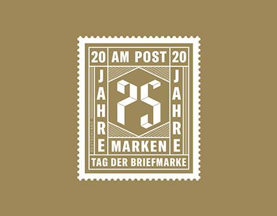 AM Post Briefmarke