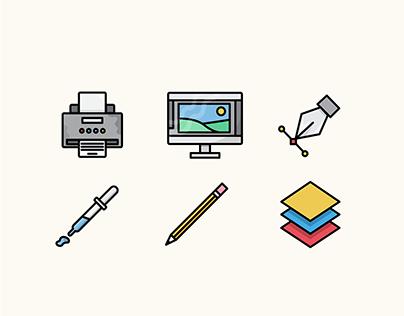 Design Icons | Illustrations by Hannah Kirkland
