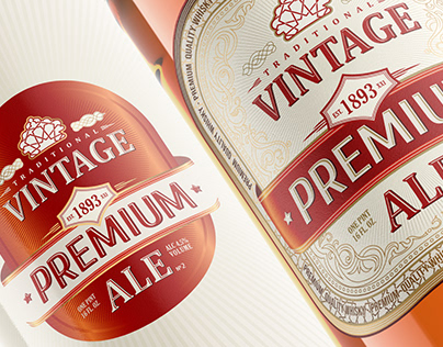 Vintage ALE Whisky Label-Packaging Branding