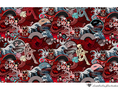 Fabric pattern Japan, 2021
