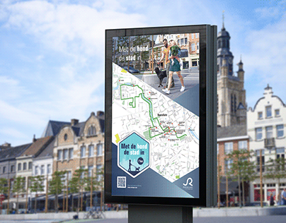 Way finding for dog walks in Roeselare
