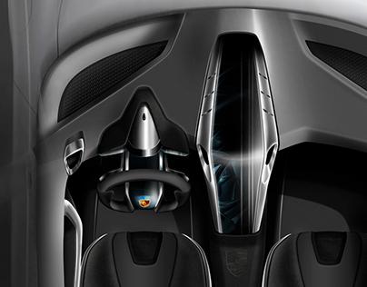 Concept Interior Design Porsche Boxster SR 2020
