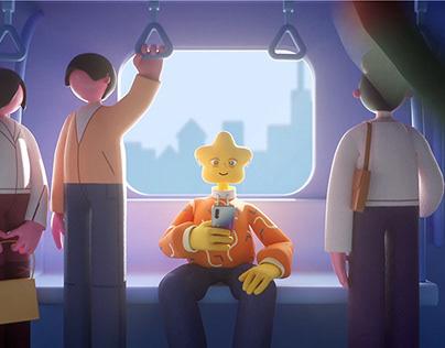 animation for OPPO Enco Free Headphones