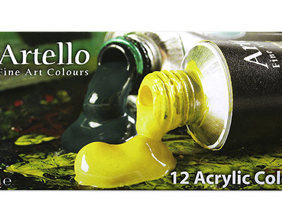 Acryllic Paint in a package with tubes