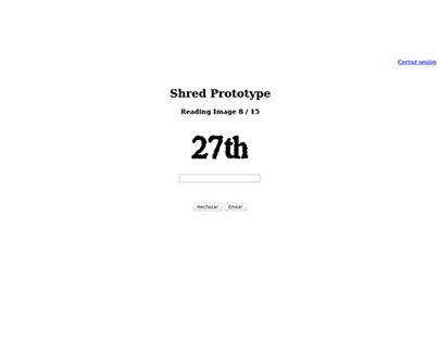 Escaneo imágenes Shred