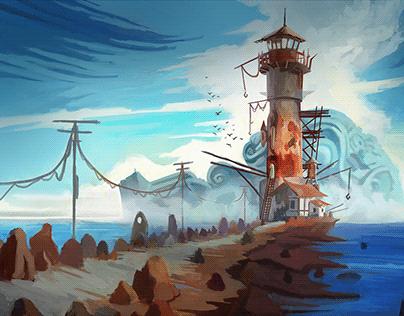 Cute Cthulhu City - Shady Lighthouse - Part 2