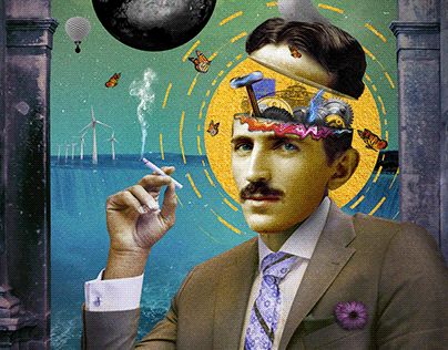 Nikola Tesla collage