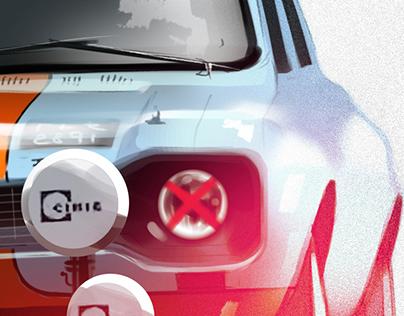 illustration / Ford Escort Mk1 1968