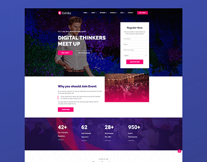 Event landing page collection 3