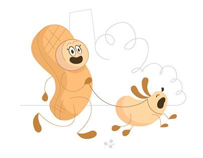 Design for peanuts tin