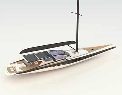 S / Y Graphena Hybrid Superyacht