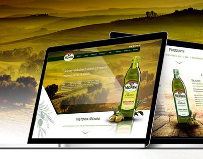 Monini - website concept