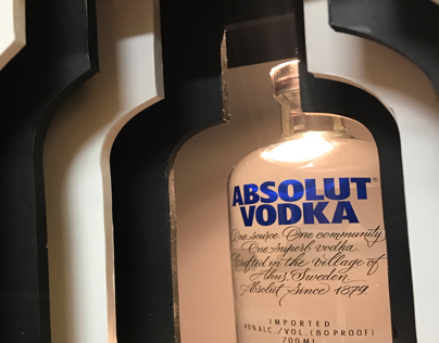 window display\ absolut vodka