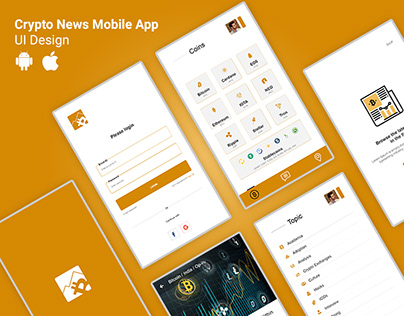 Cryptocurrency News Mobile App UI 2019