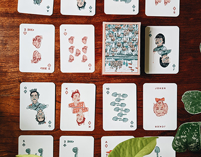 """A Story About Love,"" playing cards"