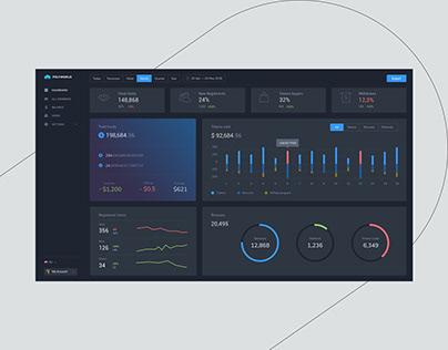 Dashboard for Blockchain Service