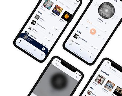 Adobe XD Creative Challenge - Music Player Concept