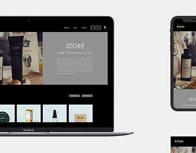 BARBER SHOP - E-COMMERCE DESIGN CONCEPT