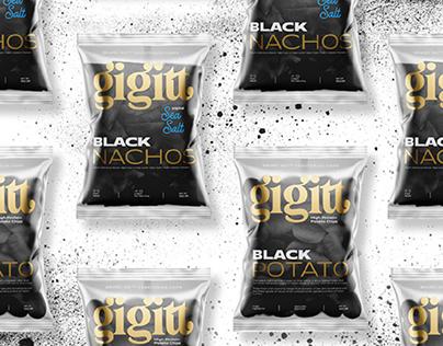 Gigitt Black Chips // Design for packaging