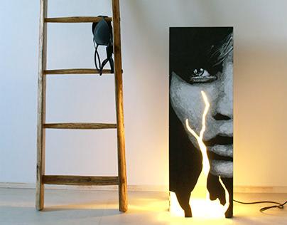 MOLOCKO floor lamp, painted by the artist Morden Gore