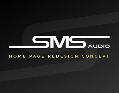 SMS Audio | Home Page Redesign Concept