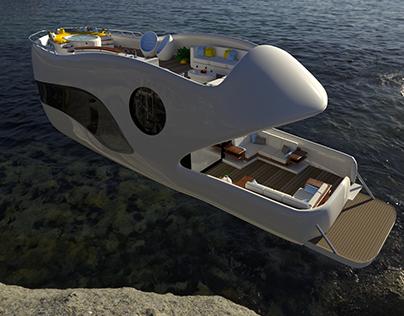 Yacht - 3D Modeling & Rendering