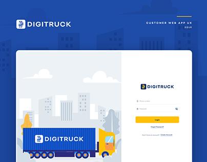 DigiTruck - Customer Web App UX case study