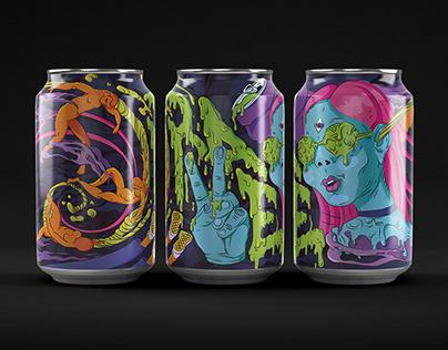 "Brand Identity Design - ""Rave"" Energy Drink"