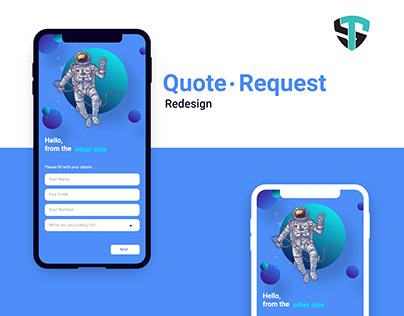 Quote Request page redesign