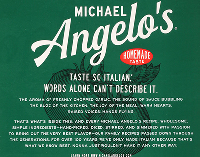 Michael Angelo's Packaging Rendered by Steven Noble