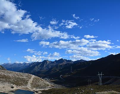 China 's Sichuan mountainous mountainous natural scener