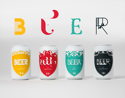 Decorative Font Beer