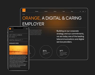 Orange Corporate Website Redesign