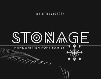 Stonage - Handwritten Font Family