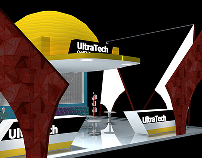 Re-designing an exhibition booth for UltraTech Cement.