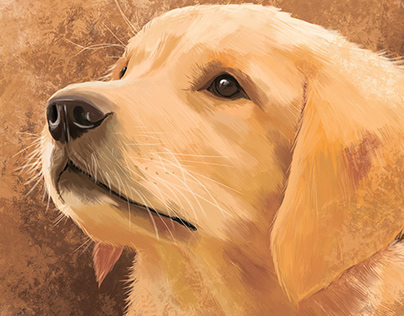 """Golden retriever"" by Masha Van for Intalence Art"