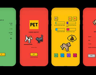 PET. App UX and UI Design