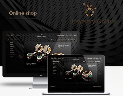 Online shop. Jewelery Online